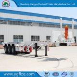 Nieuw zelf-Dumpt Koolstofstaal 2/3 Aanhangwagen van de Container van het Skelet van Assen voor Vervoer van de Container 20/40FT