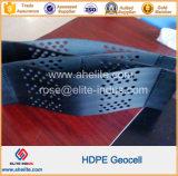 Système d'isolement en PEHD à surface lisse en plastique noir pour la pente de la protection de géocellules