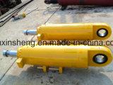 ローダー油圧アームシリンダー、ブームシリンダー、掘削機のDozerの部品のためのオイル管が付いているバケツシリンダー