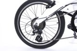 36V / 500W Deux mini batterie au lithium de roue de vélo électrique pliant