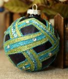 Sfera di vetro della pittura di colore di Handblown dell'ornamento dell'albero di Natale