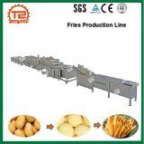Pommes-Frites, welche die Maschinen-Pommes-Frites bilden Maschinen-/Kartoffel-Pommes-FritesProduktionszweig /Fries-Produktionszweig braten