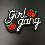 Rose and Word Embroidery Hotfix Patch Beaded Applique Christmas poison for Garment Accessories (E12)