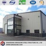 La Cina progetta il magazzino per il cliente di memoria ondulato prefabbricato della struttura d'acciaio