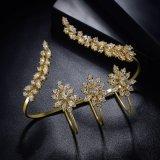여자 형식 유일한 디자인 실제적인 금에 의하여 도금되는 종려 팔찌 R1178