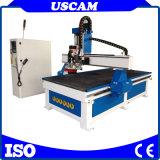 Ciclo el cambio de herramienta de madera de contrachapado de Router CNC Máquina de grabado de corte