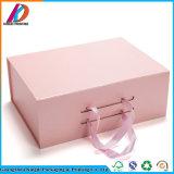 Классическая конструкция черная/серая/розовая ботинок картона упаковывая коробку с магнитным закрытием