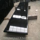 Polidos Shanxi Lajes de granito preto com 3 passos