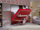Sepsion Moderne vertikale Achse geneigt Folding Murphy Wand Bett Bett mit Büro-Tabelle und Shelf Fj-32