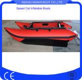 Pequeños barcos inflables que compiten con fuertes de alta velocidad 50km/H