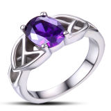 Обручальное кольцо стерлингового серебра ювелирных изделий 925