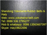 Nn200 Chevron Gummiförderband hergestellt in Yokohama