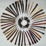 Schwarze Farben-Kurzschluss-Chemiefasergewebe-Perücke