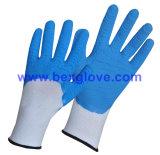Перчатка латекса цвета работая, перчатка сада