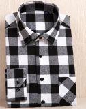 Chemises de plaid tissées de teinture de filé du sergé des hommes