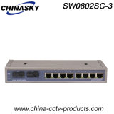 1000 Mbps 8 puerto RJ45 y 2 Port Switch Sc red (SW0802SC-3)