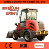 Petit chargeur 2017 compact de roue d'Everun Er08 avec 4 dans 1 position