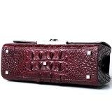 2018 разработчик бренда в стиле люкс красного вина крокодиловая кожа леди сумку с сертификат СИТЕС