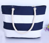 Sacchetto della tela di canapa con il sacchetto di bellezza delle ragazze della corda del cotone fuori del sacchetto personalizzato del sacchetto di acquisto