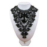 2018 женских украшений черный кружевной ожерелья