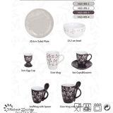 3 once tazza di ceramica e piattino con INCISO disegno della farfalla