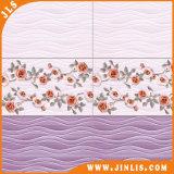Azulejo de cerámica de la pared de la impresión 3D del material de construcción del cuarto de baño púrpura de la flor