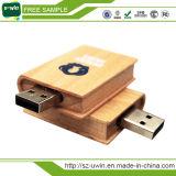 Disque en bois de flash USB de livre d'OEM 4GB
