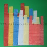 Sachet en plastique Bio-Basé de T-shirt pour l'usage d'épicerie, sac à provisions