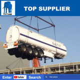 Het Volume van de titaan 50m3 van Tank 4 van de Brandstof van de Voorwaarde van de Vrachtwagen van de Tanker Nieuwe de Aanhangwagen van de Tanker van de Brandstof van de As