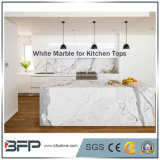 Sheratonのホテルのレセプションの上およびタイルのためのBianco自然なカラーラの白い大理石の平板