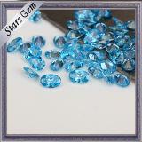 Preço por atacado para Aqua Blue Oval Shape Cubic Zirconia
