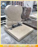 De beige Types van Hart van de Grafsteen van de Steen