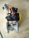 Électro robinet à tournant sphérique pneumatique de bride du PC 2