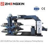 비 길쌈하는 Flexography 연약한 4 색깔 기계 Zxh-C41200 인쇄