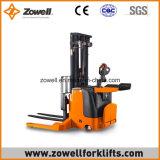 전기 Zowell 새로운 1.5 톤은 최대 5.5m 드는 고도를 가진 쌓아올리는 기계를 걸터앉는다