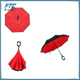 Горячая продажа индивидуальные назад зонтик Double Layer зонтик в перевернутом положении