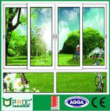 Ventana corrediza de aluminio estándar australiano y la puerta (PNOC0001SLW)