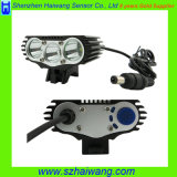 크리 말 Xml3000 Lumen 8.4V 2600mAh Battery Rechargeable LED Bicycle Headlight Hw-332
