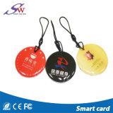 логос подгонянный 125kHz/13.56MHz Printable RFID Epoxy Tag/RFID Epoxy Keyfob