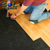 Sound Insulation Acoustic Under-To bush-hammer Rubber Floor in Roll