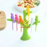 Bastoni di plastica della frutta della filiale di albero dell'uccello di disegno stupefacente, forcelle della frutta con l'insieme del supporto