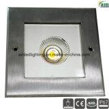 COB 6W LED IP67 de Metro de luz LED enterrada la luz de la luz de cubierta