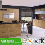 Gabinetes de cozinha baratos da melhor alta qualidade nova do projeto do sentido com porta de madeira