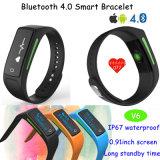 Moda Bracelete esportivo com monitor de ritmo cardíaco e impermeável