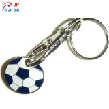 Kundenspezifische Fußball-Form-Zink-Legierung Keychain