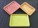 Supermarkt-Nahrung zeigt Wegwerf-pp.-Fleisch-Vorratsbehälter mit saugfähigen Auflagen an