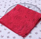 Serviettes chaudes de coutume d'hôtel de satin de polyester de ventes