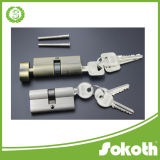 Latón de perfil europeo de calidad de bloqueo de cilindro doble abierto