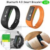 La moda Brazalete Bluetooth Smart con monitor cardíaco (V6)