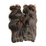 Cabelo humano do cabelo brasileiro não processado natural da extensão do cabelo do Virgin da onda